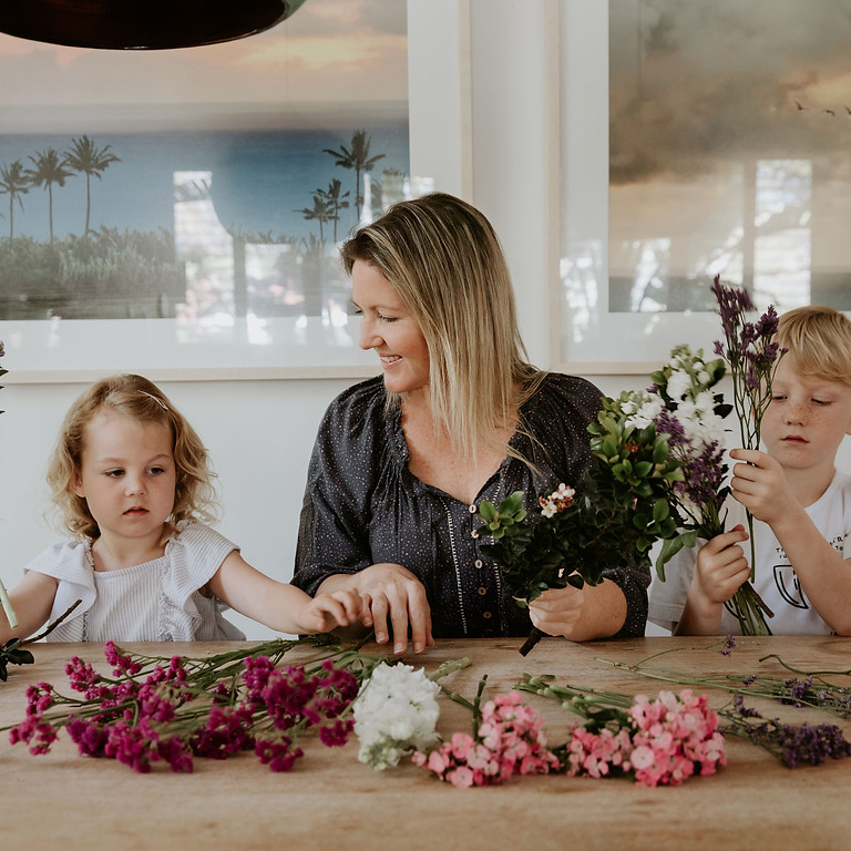 Parent and Child lockdown at home flower posy workshop