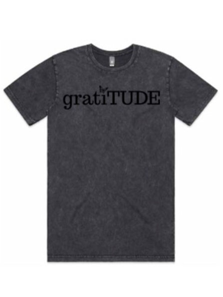 Men's Grateful gratiTUDE Stonewash Tee (Butterfly Collection)