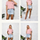 Thumbnail: Bella Blush Swing Crop 100% Cotton