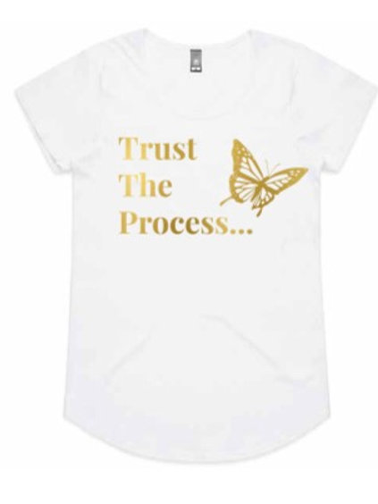 Trust The Process Gold Full Length Tee (Butterfly Collection)