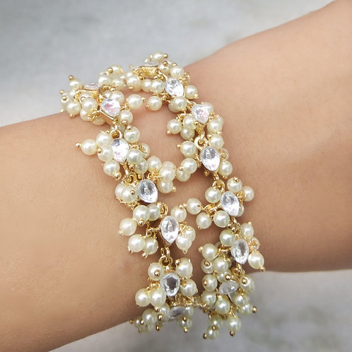 Kundan Pearl Bracelet
