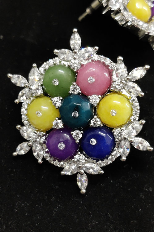 Multi Color Pearl Studs