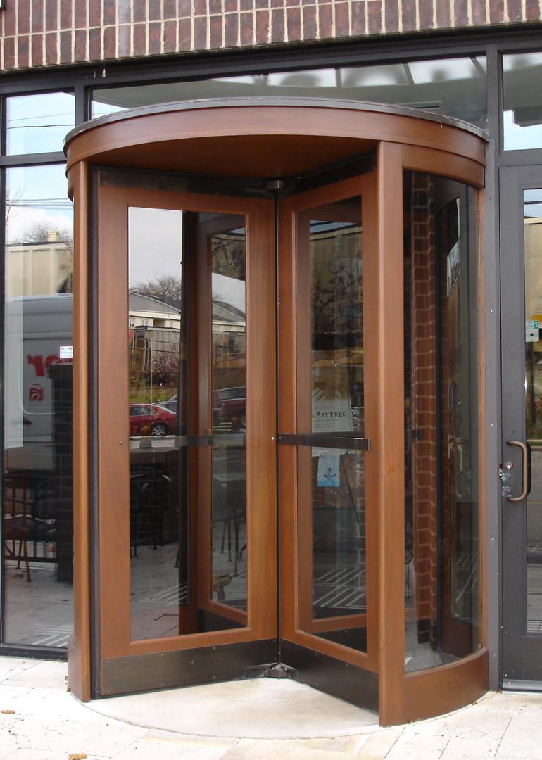 Custom Wood Revolving Door November 2008.JPG