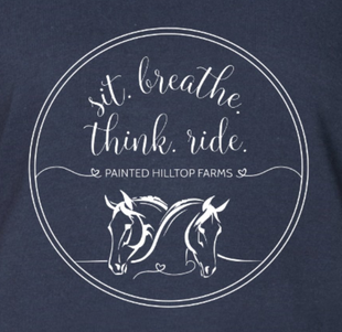 T-shirt design (sit. breathe. think. ride)