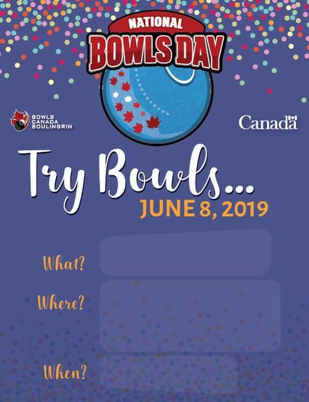 2019 Bowls Day Poster