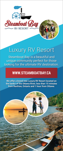 Steamboat Bay RV Resort - Pop Up Banner