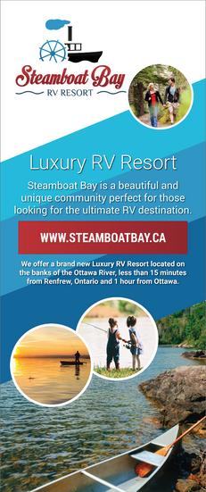 Steamboat Bay RV Resort - Pop Up Banner