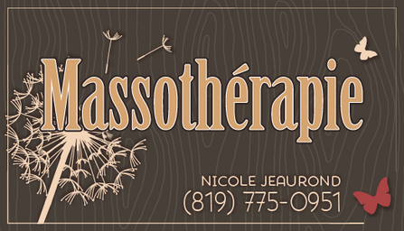 Massage Business Cards - Front