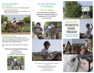 Renfrew County Therapeutic Riding Program - Brochure