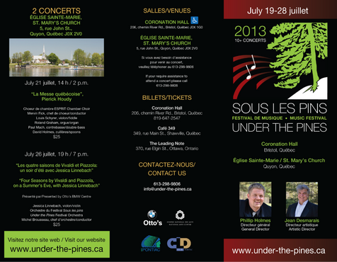Under the Pines Brochure - outside