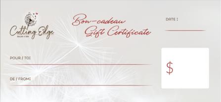Gift Certificate - Back