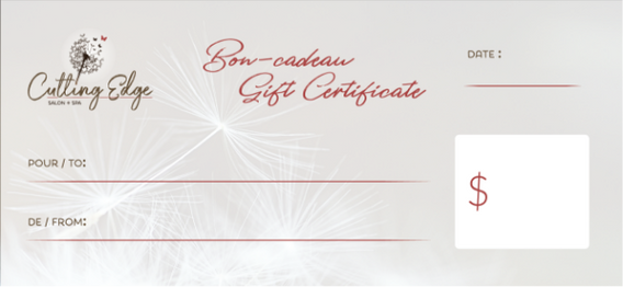 Studio Cutting Edge - Gift Certificate