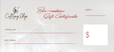 Studio Cutting Edge - Gift Certificate