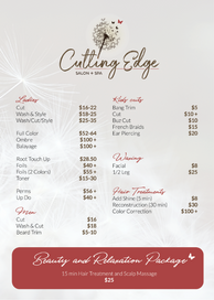 Studio Cutting Edge - Price List