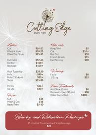 Studio Cutting Edge - Price List