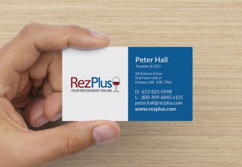 RezPlus Business Card - front