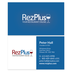 RezPlus Business Cards