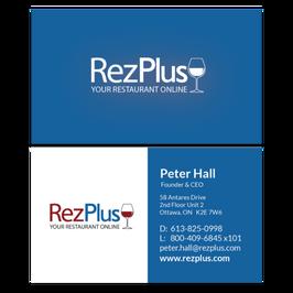 RezPlus Business Cards