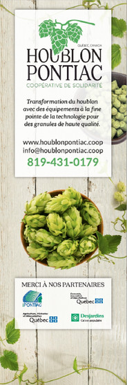 Houblon Pontiac Pop up Banner