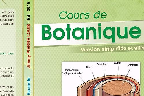 Cours de Botanique (2015), 3e éd, 2de & 1ère année U.