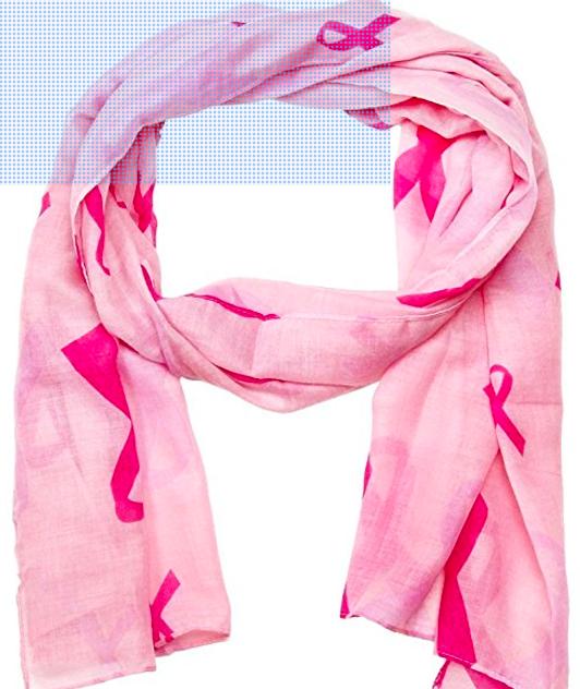 Pink ribbon scarb