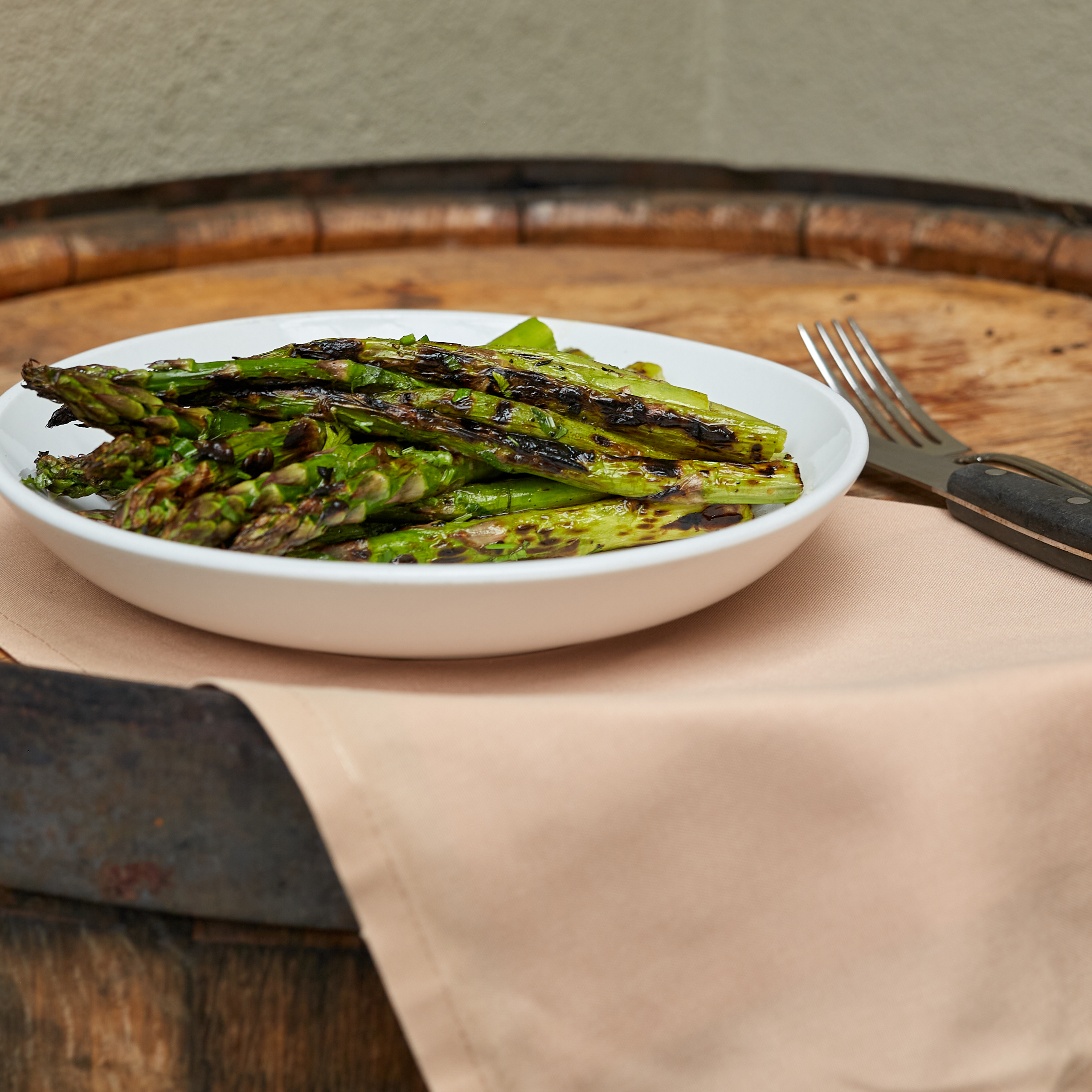 side grilled asparagus
