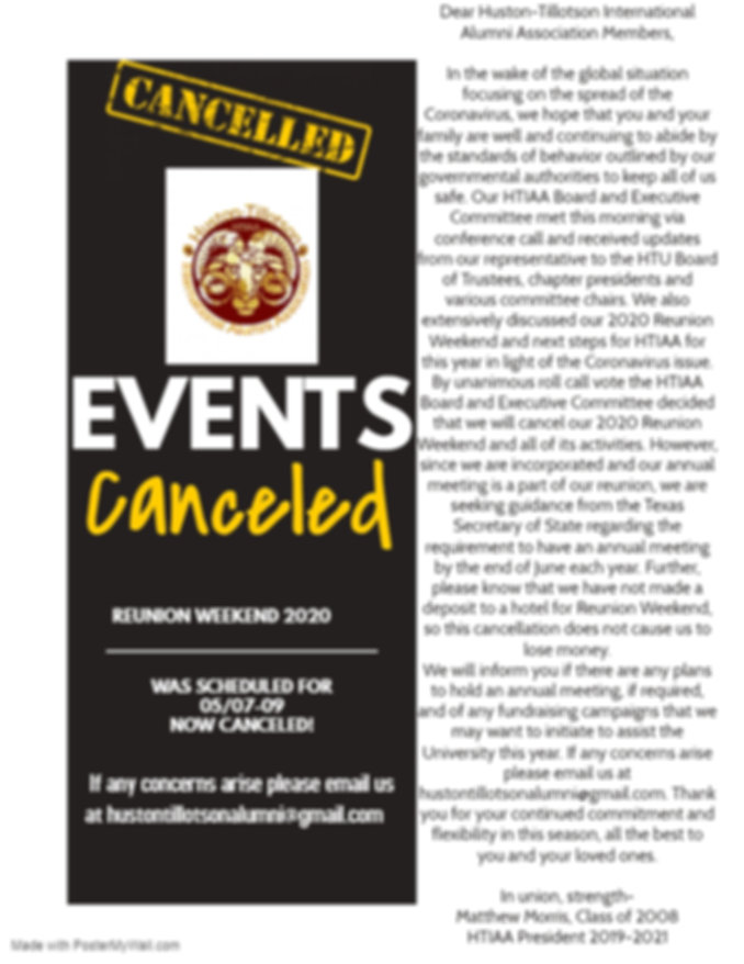 Reunion Weekend Cancelled - Made with Po