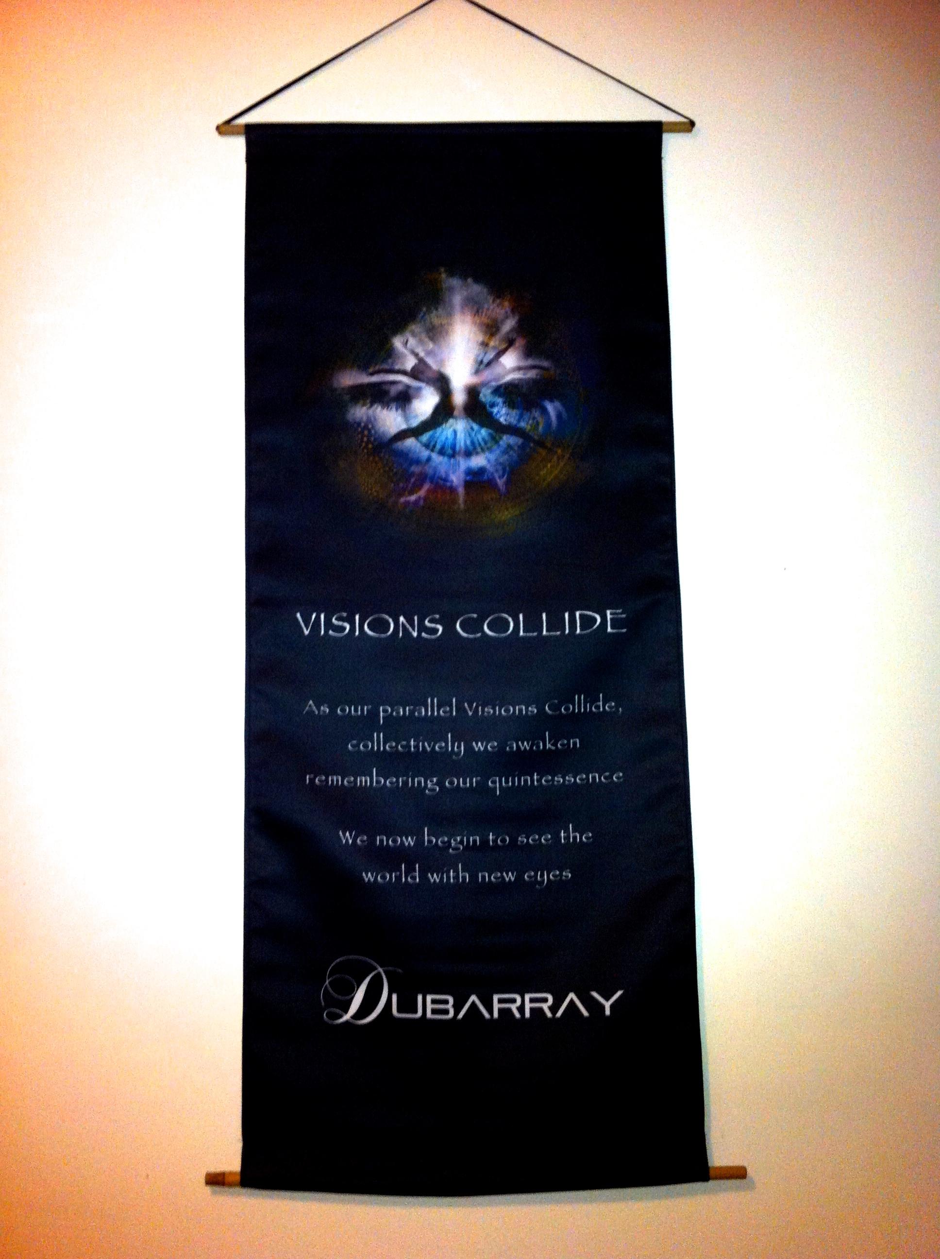 'Visions Collide' Lyric Banner