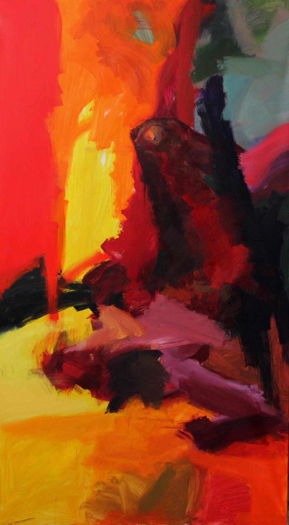 Diploma work (triptych) /195×347cm /Acrylic on Canvas / 2013