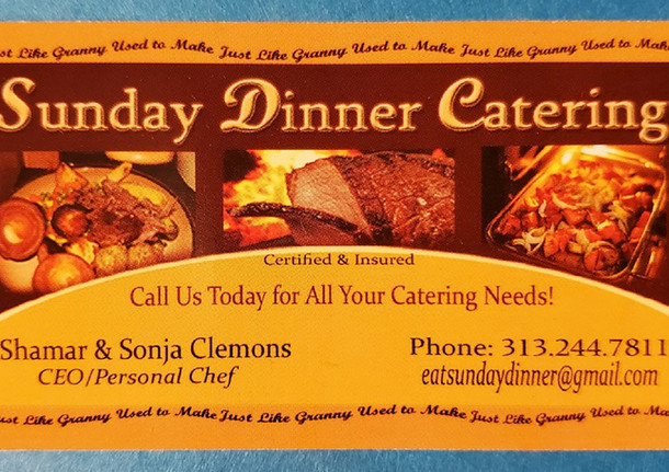 SUNDAY DINNER CATERING - FRONT