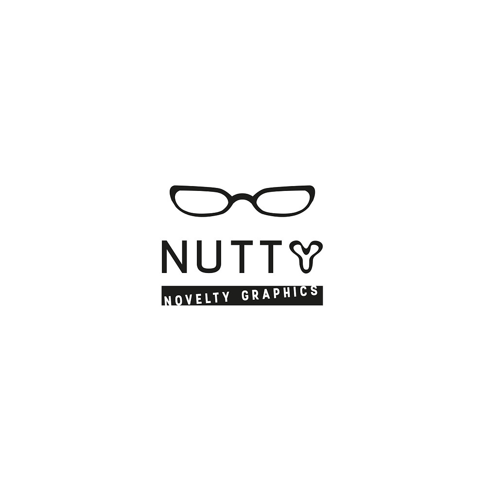 I did this quick designs for my 'nutty' identity and I prefer this one because it's the most minimalist.