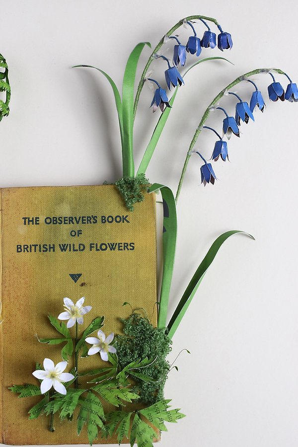 The Observer Book of British Wild Flowers, paper sculpture by artist Kate Kato | Kasasagi