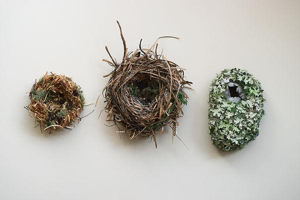 Birds Nests, paper sculpture by artist Kate Kato | Kasasagi