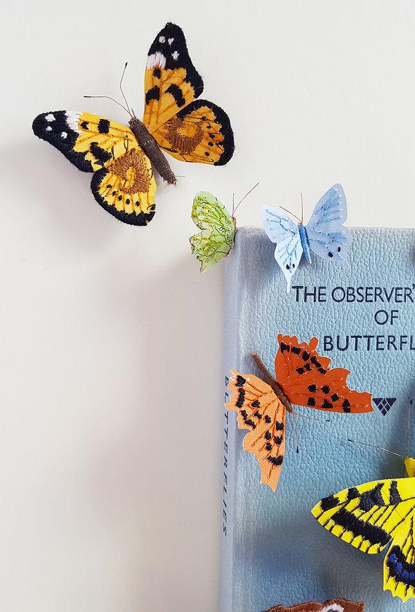 The Observer Book of Butterflies, paper sculpture by artist Kate Kato | Kasasagi