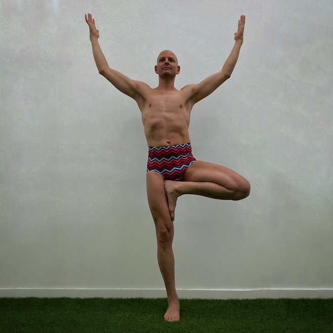 Men's Yoga Tree Pose Lycra Trunks