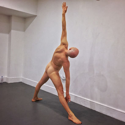 Yoga triange pose men's naked yoga London