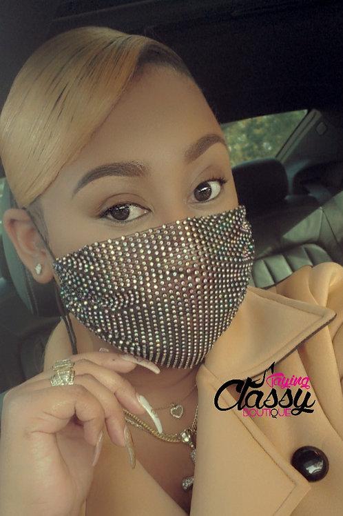 Classy Black Sequin Mask