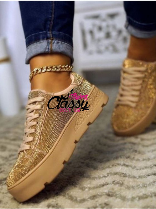 Glitter and Gold Sneaker