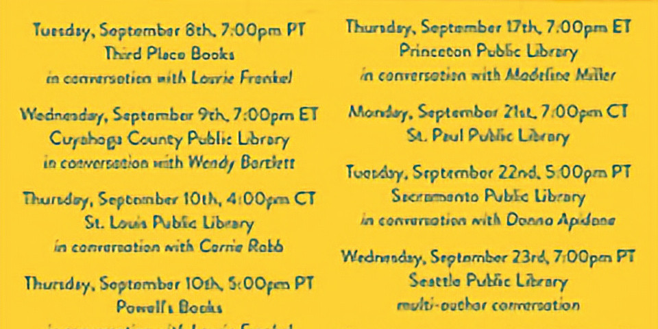 The Writer's Library Event Schedule