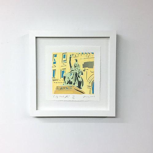 """City Hall"" Mini by Ricardo Roig Limited Edition Hand Cut Screen Print"