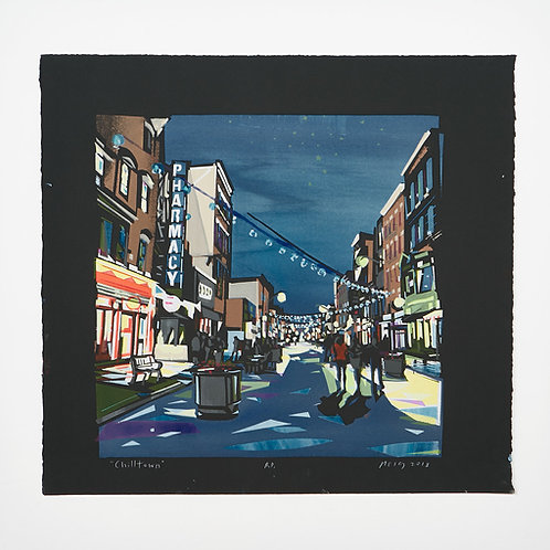 """Chilltown"" by Ricardo Roig Limited Edition Hand Cut Screen Prints"