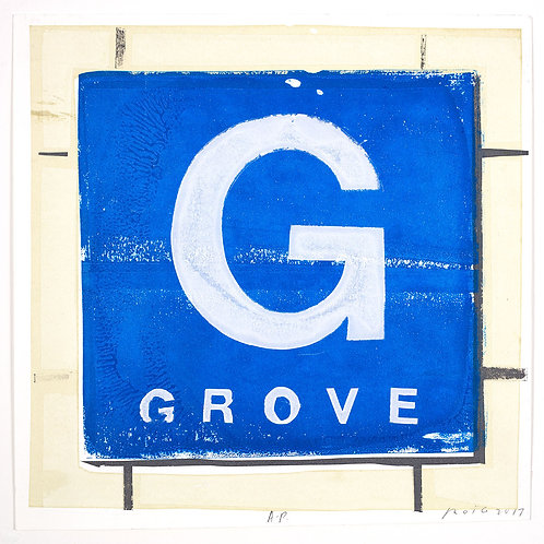"Grove ""G"" by Ricardo Roig Limited Edition Hand Cut Screen Prints"