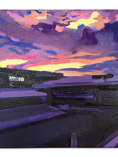 """Sunset at the Foundry"""