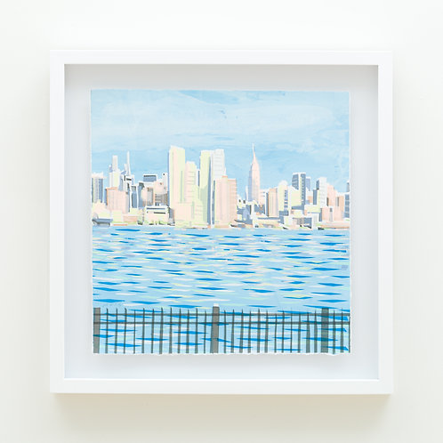 "Fragment ""Skyline"" by Ricardo Roig Limited Edition Hand Cut Screen Print"