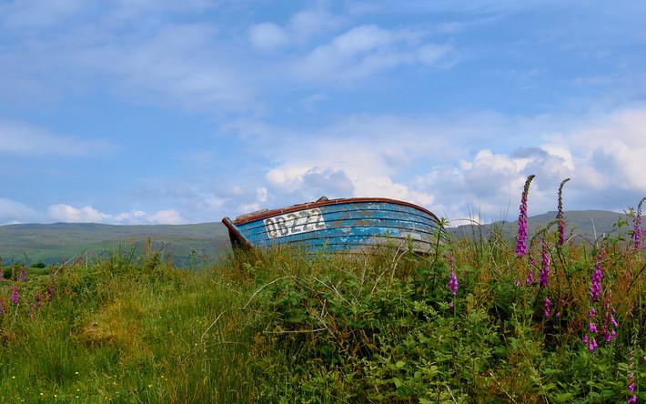 Boat on Ulva.  2018.