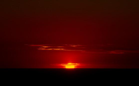 Sun sets over the West. 2021.