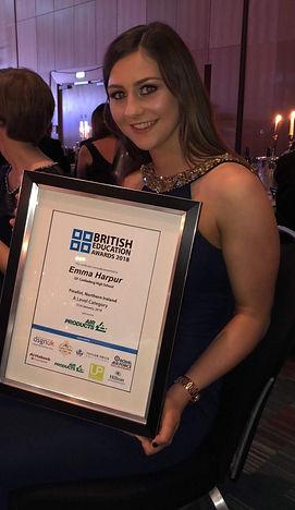 Emma Harpur British Education Awards Cro