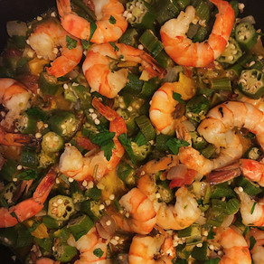 Skillet Shrimp and Okra