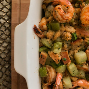 Shrimp and Mirliton Dressing