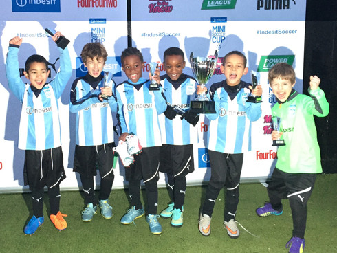 Well done Focus football Under 8's National Champions of the Indesit mini soccer cup